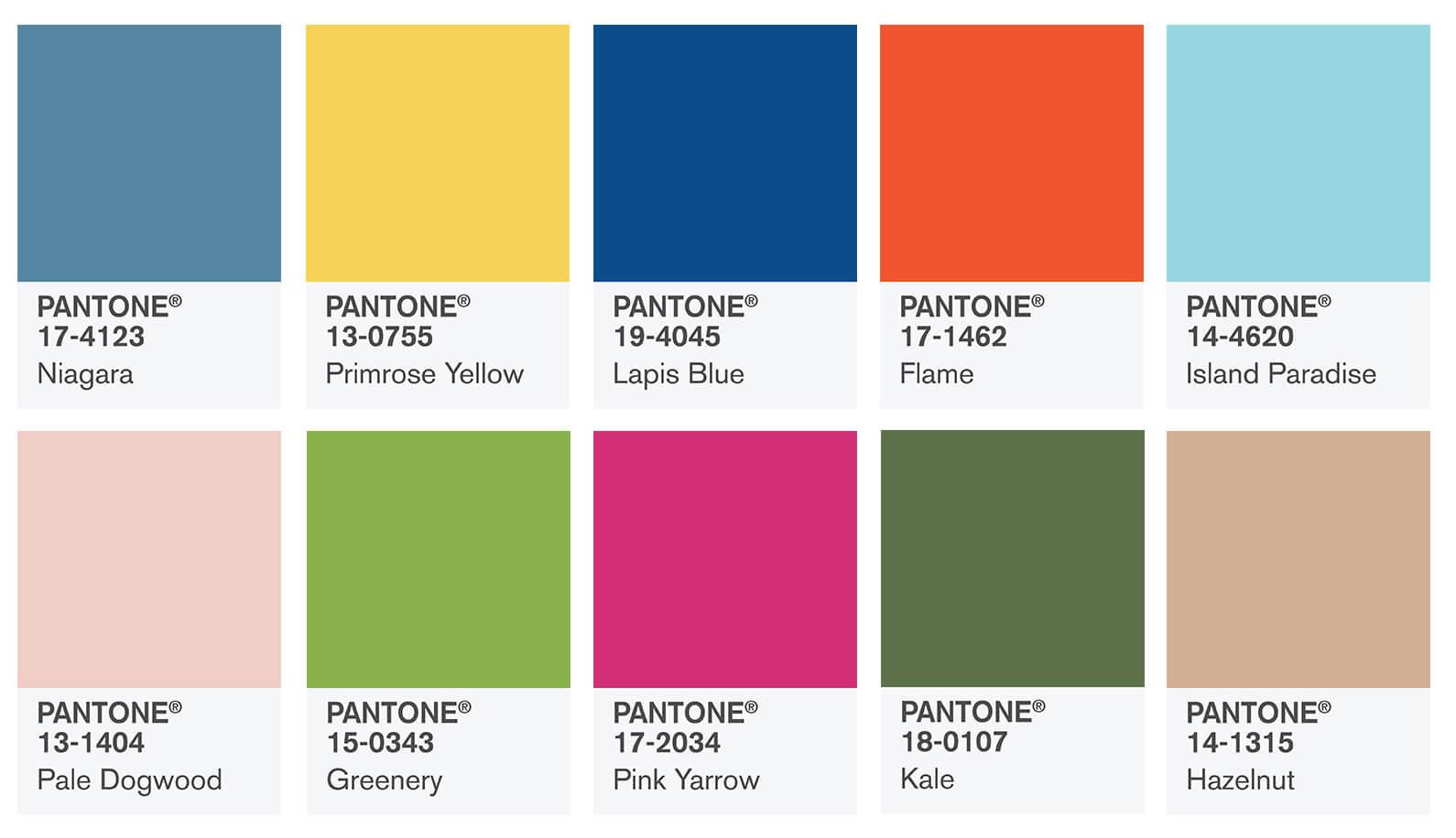 Spring 2017 Fashion Color Report