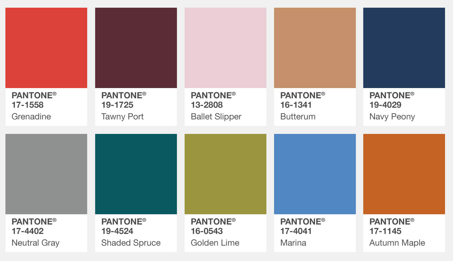 Pantone Color Institute Releases Fall 2017 Fashion Colour