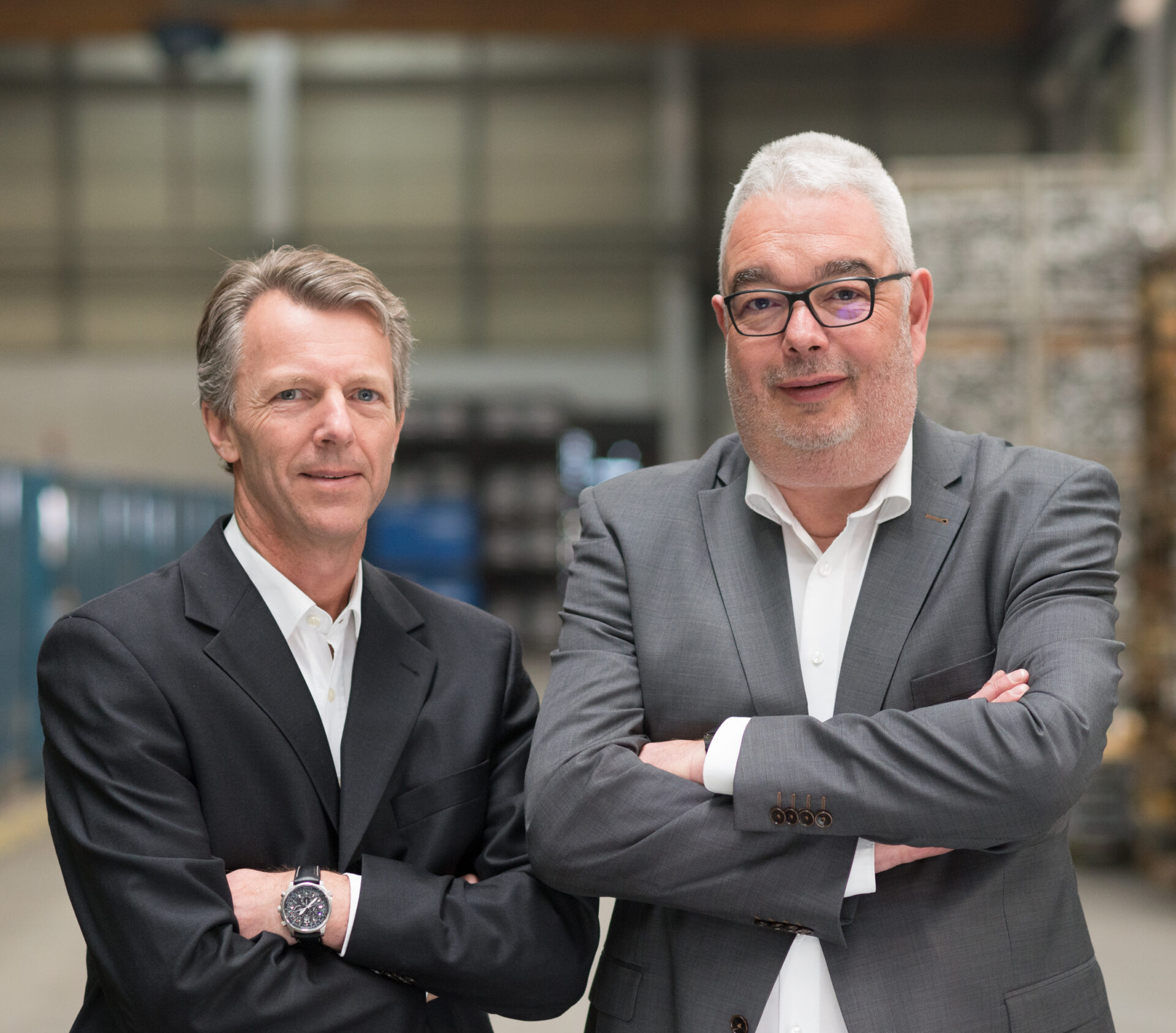 Newalu-Geschäftsführer Stefan Matthaei und Martin Volpers.
