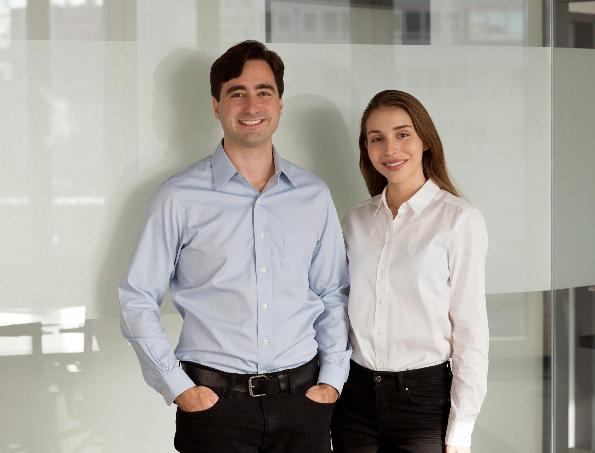 corrux-Gründer Ryan Henderson und Laura Tönnies